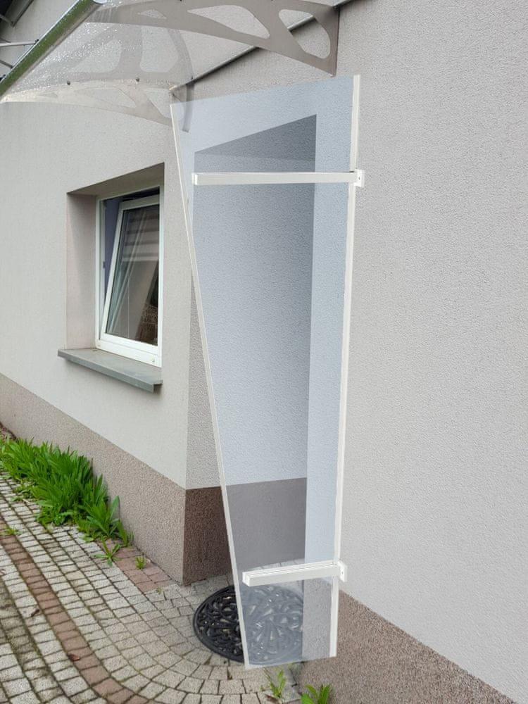 LanitPlast boční stěna LANITPLAST UNI bílá / PLEXI
