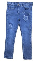 Carodel spodnie jeansowe dziewczęce z gwiazdkami