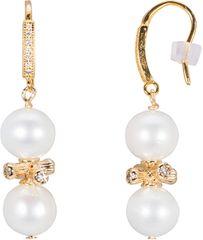 JwL Luxury Pearls Stříbrné zlacené náušnice s pravými perlami JL0443 stříbro 925/1000