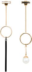 JwL Luxury Pearls Zlacené asymetrické náušnice s pravou perlou JL0483CH