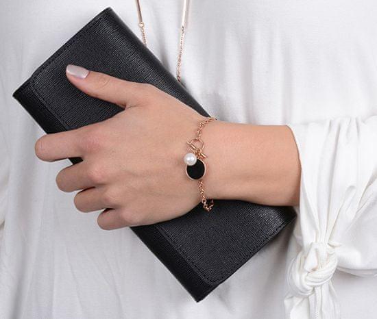 JwL Luxury Pearls Stal bransoletka z odpowiednią perłą JL0481CH