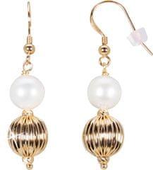 JwL Luxury Pearls Zlacené náušnice s pravou perlou JL0441 stříbro 925/1000