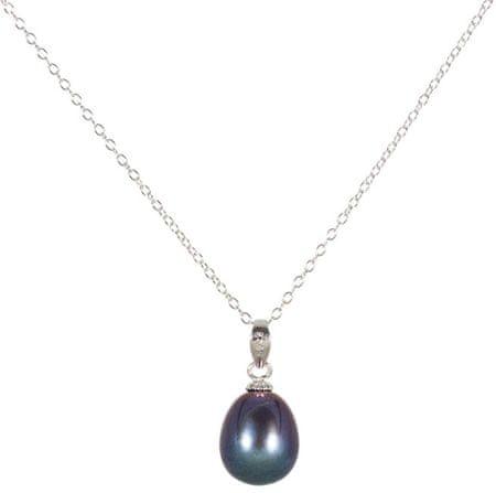 JwL Luxury Pearls Srebrny naszyjnik z niebieską perłą JL0438 srebro 925/1000