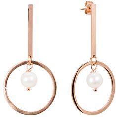 JwL Luxury Pearls Dlouhé ocelové náušnice s pravými perlami JL0490CH