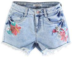Cars-Jeans Kobiety szorty Colibri 4061705 Bleach