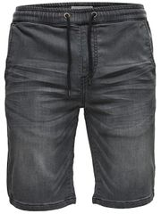 ONLY&SONS Férfi nadrág Linus Jog Shorts Grey Pk 9063 Grey Denim