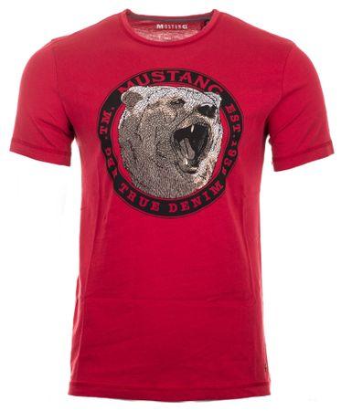 Mustang T-shirt męski, M, czerwony