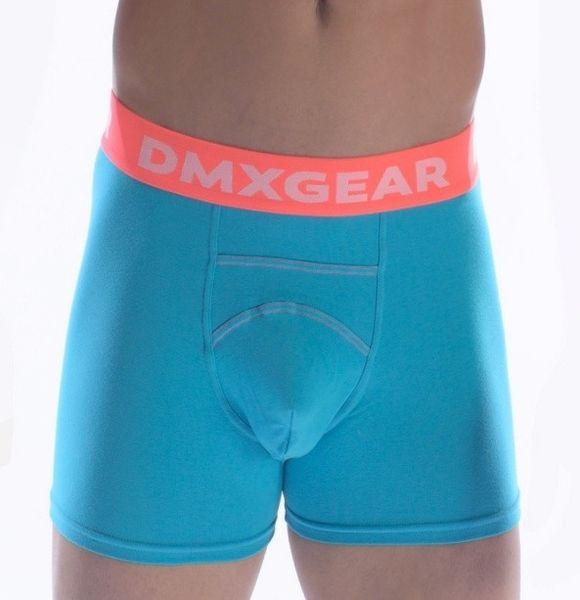 DMXGEAR pánské luxusní tyrkysové boxerky Anatomically Fit Boxer - Velikost: S