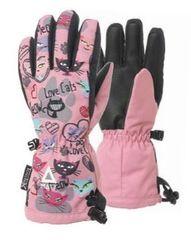 Matt dekliške rokavice s podobo simpatičnih muc 3216 Love Cats