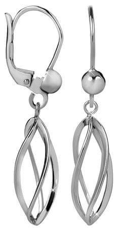 Brilio Silver Spirálkové strieborné náušnice 431 001 02665 04 - 2,27 g striebro 925/1000