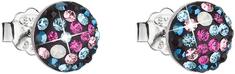 Evolution Group Slušivé náušnice s krystaly Galaxy 31136.4 stříbro 925/1000