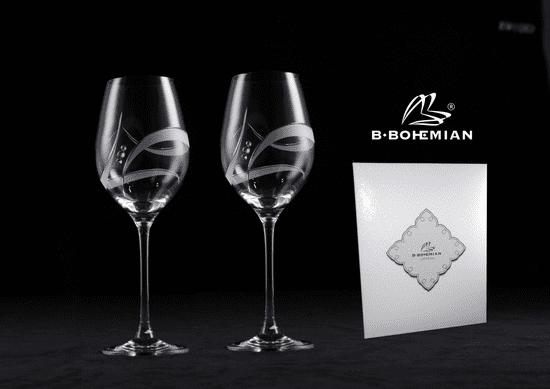 B. Bohemian GALAXY 2 ks sklenice na bílé víno 360 ml