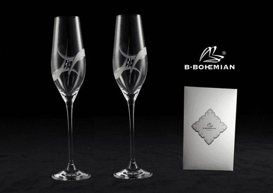 B. Bohemian GALAXY 2 ks sklenice na sekt 210 ml
