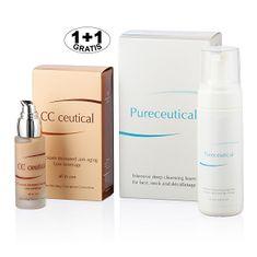 Herb Pharma Pureceutical - intenzivní hloubková čistící pěna 125 ml + CC ceutical krém proti vráskám jemně krycí