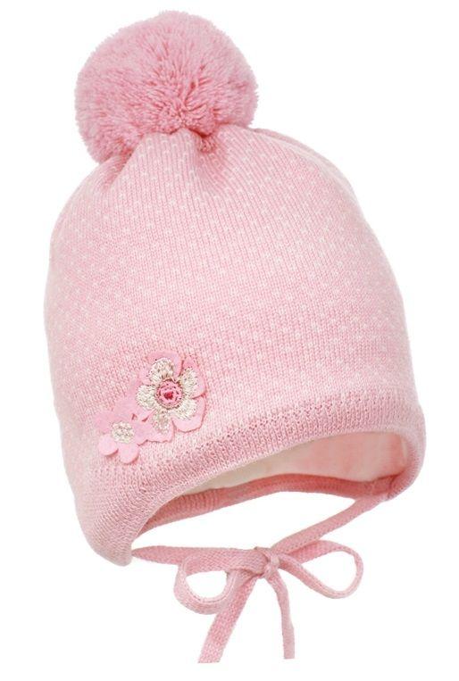 Pupill dívčí čepice Emilia 42 - 44 růžová