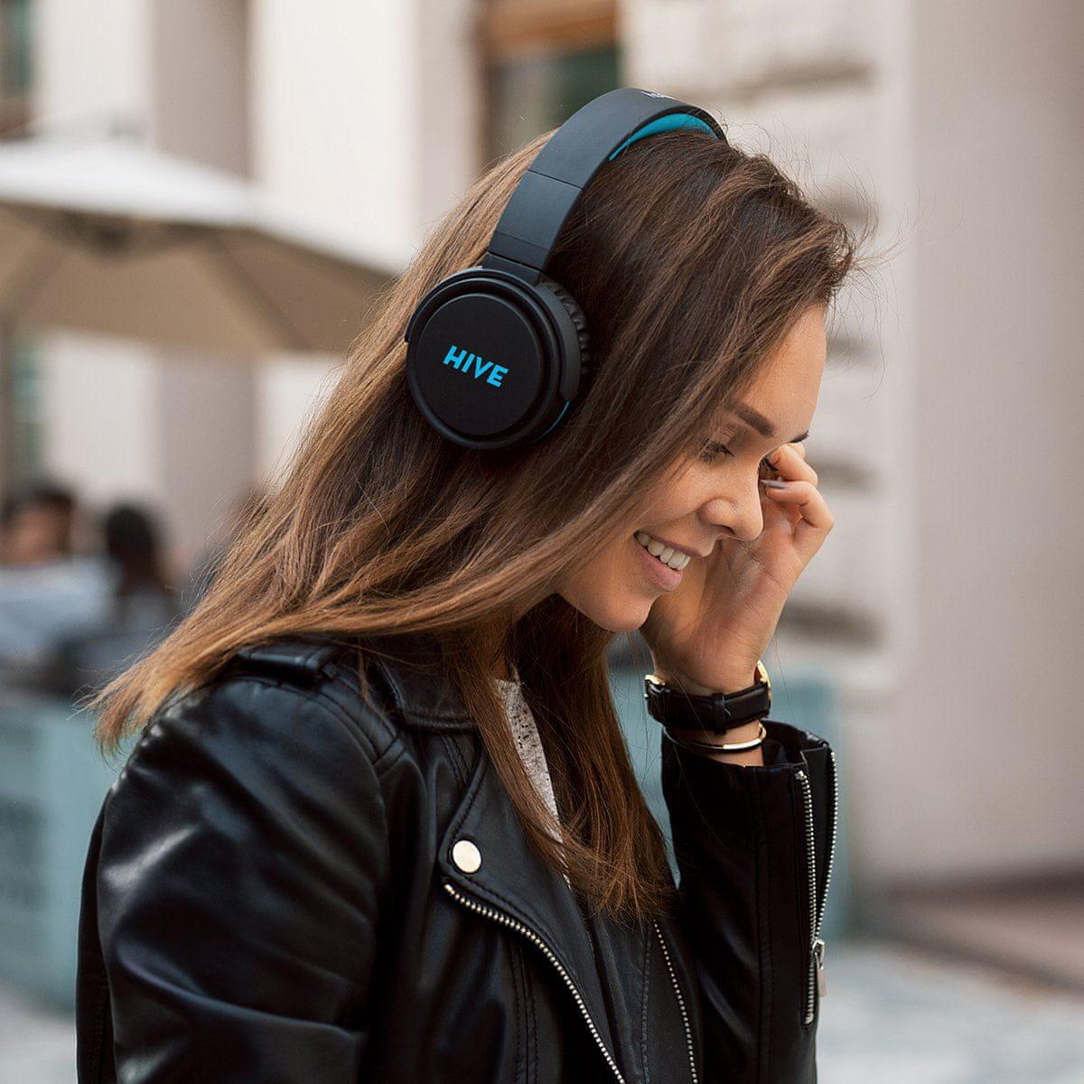 Niceboy HIVE XL fejhallgató a környező zajok szigetelése puha fülkagylók audiokábel
