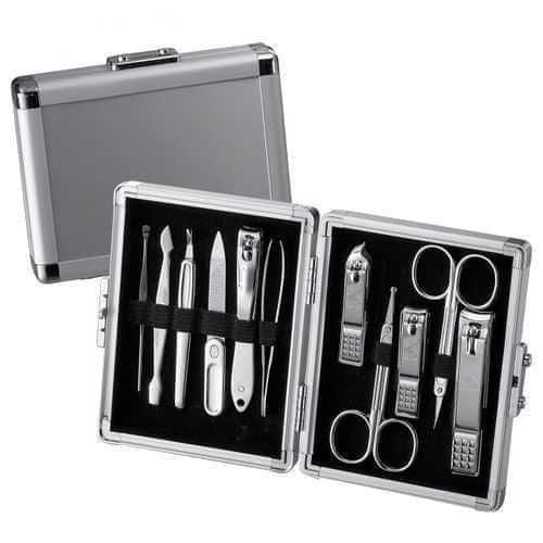 Three Seven Manikúrní set kufřík Silver - 11 nástrojů