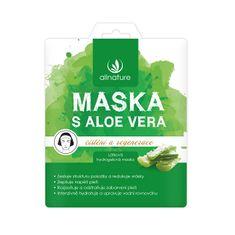 Allnature Látková pleťová maska s aloe vera 23 ml