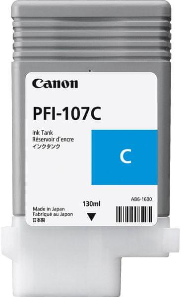 Canon PFI-107C, azruová (6706B001)