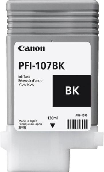 Canon PFI-107BK, černá (6705B001)