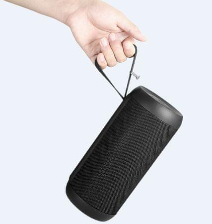 Promate brezžični prenosni stereo zvočnik Silux, črn