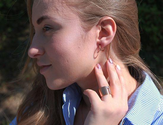 Esprit Vörös arannyal bevont fülbevaló ESER00142300