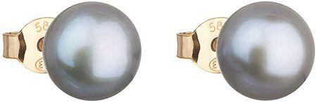 Evolution Group Zlaté perličkové náušnice Pavona 921042.3 grey zlato žluté 585/1000
