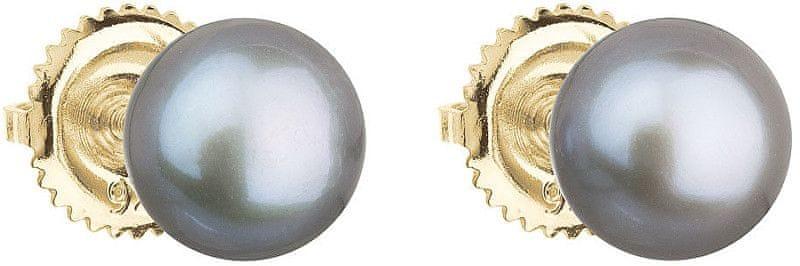 Evolution Group Zlaté náušnice pecky s pravými perlami Pavona 921004.3 zlato žluté 585/1000