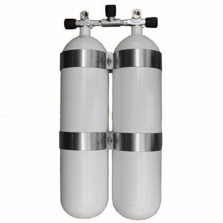 "EUROCYLINDER fľaša ""dvojča"" 2 x 12 L 232 bar manifod (ťažké)"
