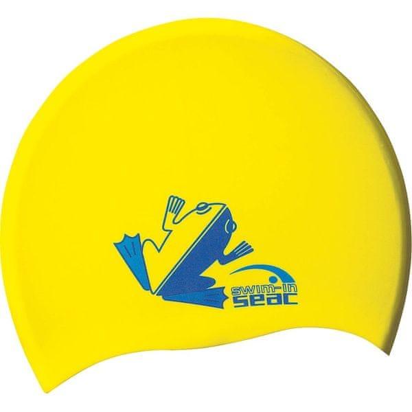 Seac Sub Čepice plavecká SILICONE JR, Seac Sub, žlutá