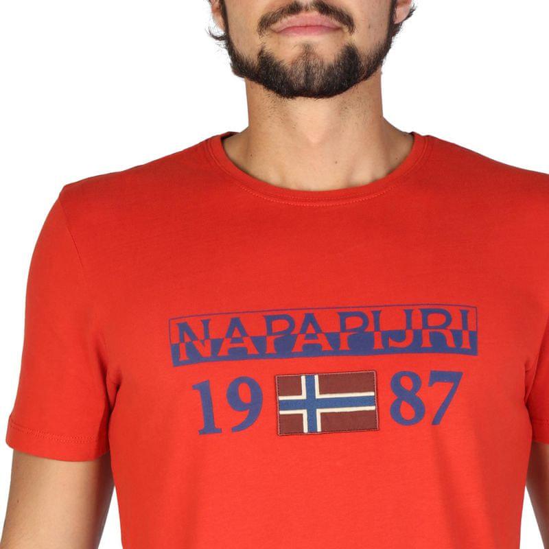 b1b869966fdb Napapijri pánské tričko M červená - Diskusia