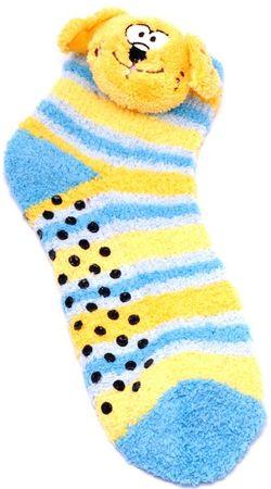 Attractive otroške nogavice s psom, 27 - 30, rumeno/modre