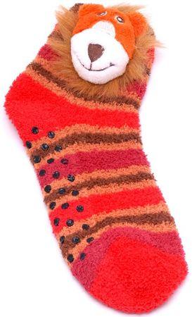 Attractive otroške nogavice z levom, 27 - 30, večbarvne