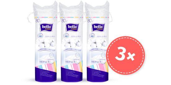 Bella płatki kosmetyczne bawełniane 80 szt., opakowanie 2+1