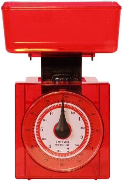 TimeLife Kuchyňská váha analog, červená