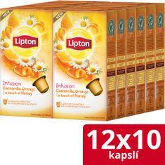 Lipton Bylinný aromatizovaný čaj Harmanček, pomaranč a med 120 kapsúl
