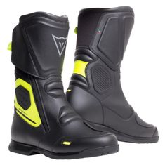 Dainese moto topánky  X-TOURER D-WP čierna/fluo žltá