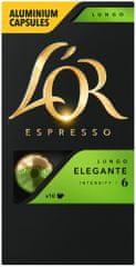 L'Or Lungo Elegante Intenzita 6 - 100 hliníkových kapsúl kompatibilných s kávovarmi Nespresso