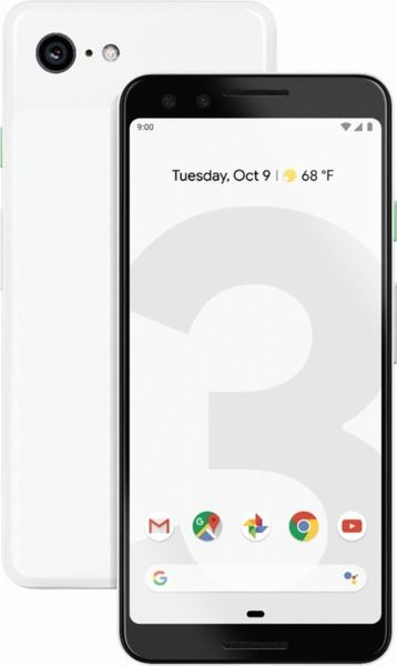 Google Pixel 3, 64 GB, Clearly White