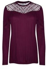 ONLY Dámske tričko Kirsty LS Mix Top Box Jrs Purple Potion Dots