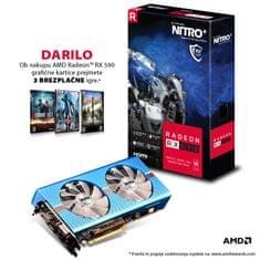 Sapphire grafična kartica NITRO+ Radeon RX 590 Special Edition, 8 GB + DARILO: 3 brezplačne igre - Odprta embalaža