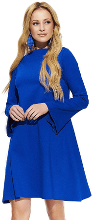 Makadamia dámské šaty 38 modrá