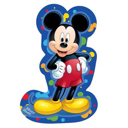 Jerry Fabrics Dekorativní mikroplyšový polštářek Mickey modrý
