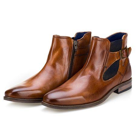 BUGATTI Pánske členkové topánky 311594232100-6300 Cognac (Veľkosť 44 ... d5d0cf1cf1