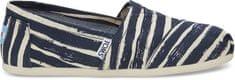 Toms Dámske Slip-On Navy Paint ed Stripe Seasonal Class ic s Alpargata s