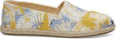 Toms Dámske Slip-On Birch Tropic al Palm Rope Sole Alpargata