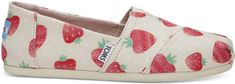 Toms Dámske Slip-On Birch Strawberry and Cream Alpargata
