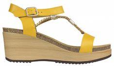 Scholl Dámske sandále Blanche Bioprint Ochre F270611042