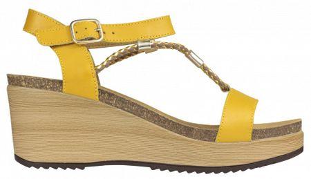 Scholl Dámské sandále Blanche Bioprint Ochre F270611042 (Velikost 39)