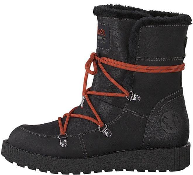 s.Oliver Dámské kotníkové boty Black 5-5-26459-31-001 (Velikost 38)